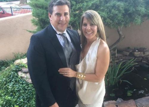 Jennifer Riordan, with husband Michael, was identified as the victim of the plane engine failure in the United States. (Facebook)