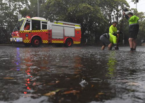 Emergency services were stretched to the limit during yesterday's storm.