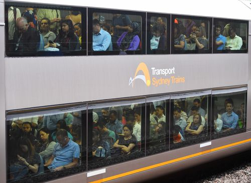 Commuters experience the brunt of the train chaos this morning.