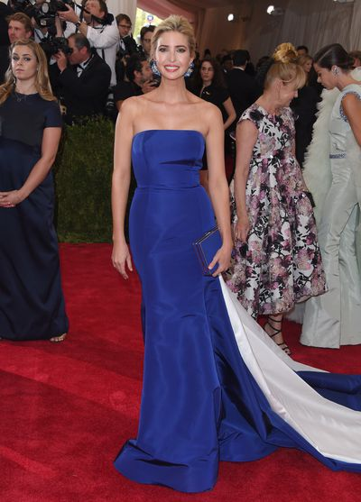 <p>Ivanka Trump at China: Through the Looking Glass, the Met Gala in 2015 wearing custom Prabal Gurung.</p>