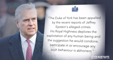 The prince was forced to release a statement about the scandal.
