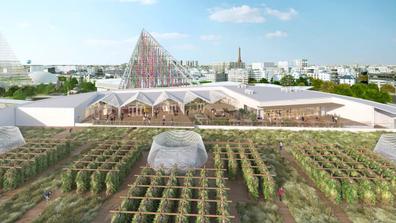 Rendering of Paris urban farm