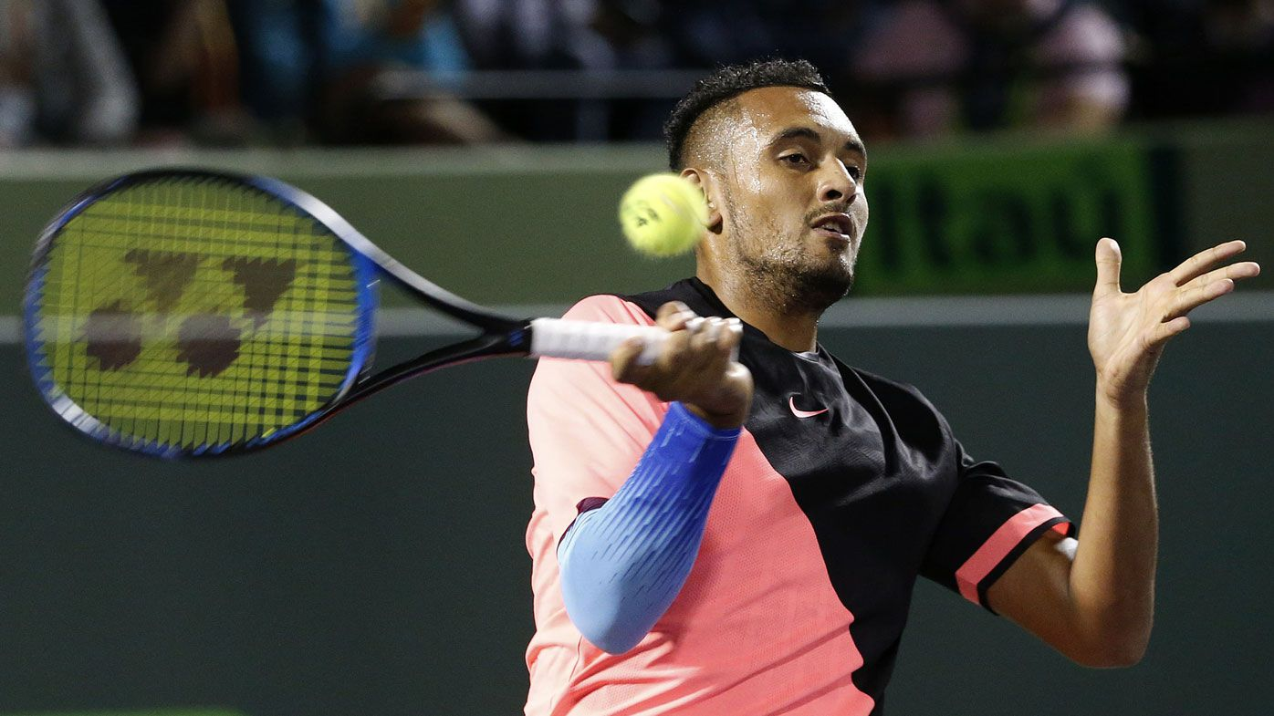 Australia's Nick Kyrgios storms into Miami Open third round in comeback match from injury