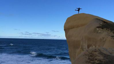 Dunedin's Tunnel Beach Instagram cliff