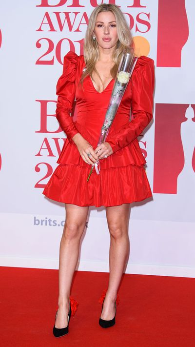 Ellie Goulding in Stella McCartney at the 2018 Brit Awards