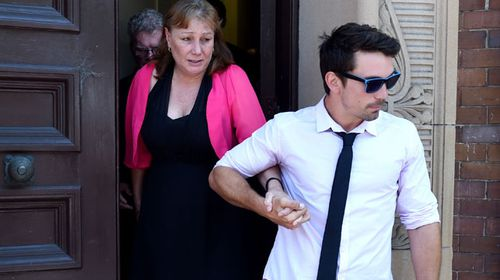 Debbie Breen, Corey's mother, leaves the NSW Supreme Court. (AAP)
