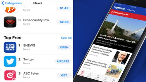 The 9NEWS app is the most downloaded free news app on the Apple App store.