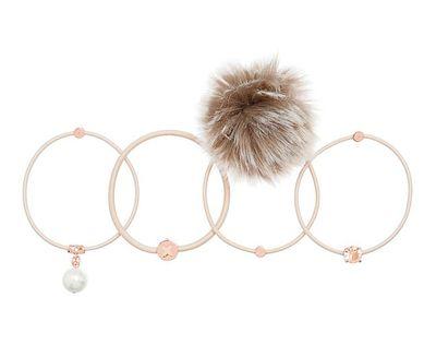 "<a href=""https://www.mimco.com.au/shop/accessories/hair-accessories/60210365-124/Snowdrop-Pony-Set.html"" target=""_blank"">Mimco Snowdrop Pony Set, $49.95.</a>"