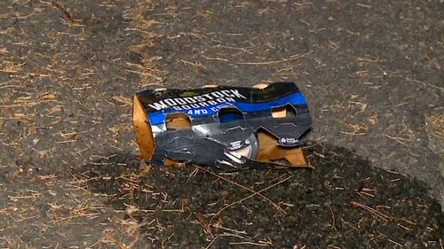 A can of alcohol cans found near the crash. (9NEWS)