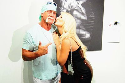"""In 2008, there were pictures of Hulk rubbing sun lotion onto Brooke's bum. <br/><br/>Earlier this year, father and daughter were all smoochy and weird at the launch of some nude pics Brooke did for animal activist group, PETA.  At the time, Brooke tweeted: """"I'm SO sick of people saying me and my dad are in some perverted relationship! Go home and do your own thing! Stop picking on me!"""""""