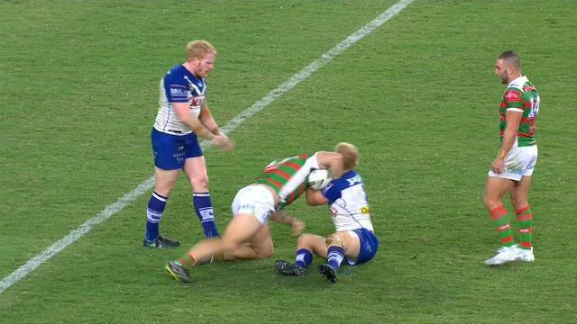 Canterbury Bulldogs' Aiden Tolman backs  George Burgess over NRL elbow drama