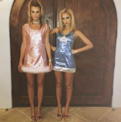Jessica Alba and friend Kelly Sawyer as Romy and Michelle, 2015