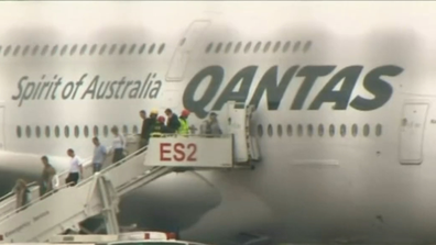 Passengers sat on the plane for  two hours before disembarking.