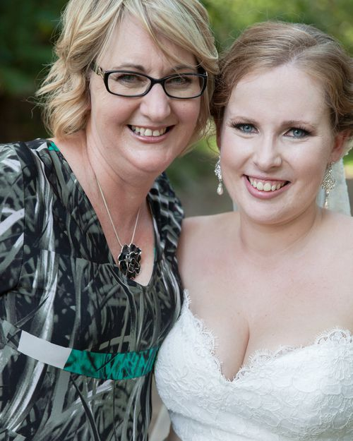 Tamra Betts, pictured with her daughter Emma at their 2014 wedding.