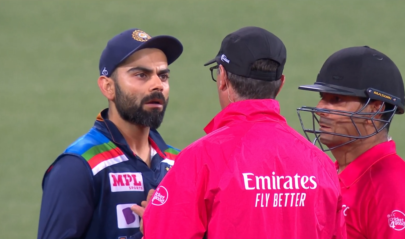 Virat Kohli seeks an explanation.