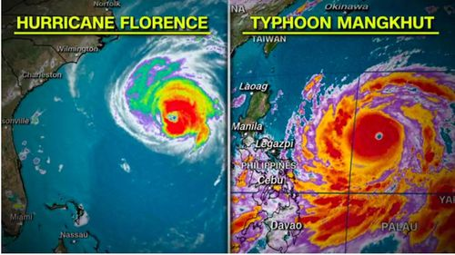The scale of Mangkhut to Florence is apparent in these CNN storm graphics.