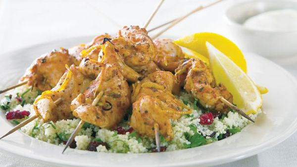 Moroccan chicken kebabs