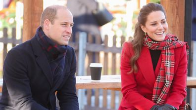 Prince William and Kate Middleton during a royal engagement