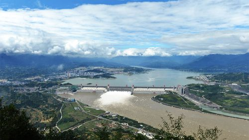 The Three Gorges Dam on the Yangtze River in Hubei province. (AAP)