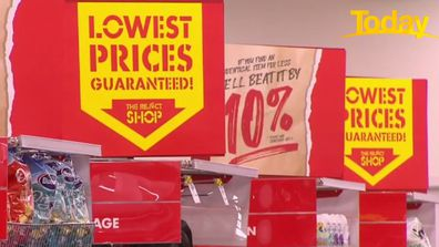 The Reject Shop promises its customers to beat prices at other retailers by 10 per cent.