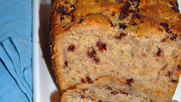 Gluten-free banana choc loaf