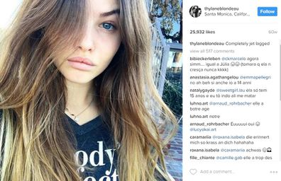 Thylane Blondeau the most beautiful girl in the world is jetlagged