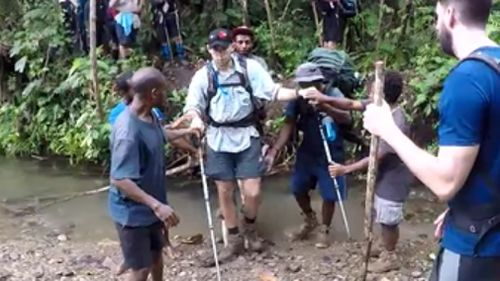 The fearless 22-year-old tackled the Kokoda trail. (9NEWS)
