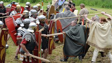 The Battle of the Teutoburg Forest is one of the most famous Germanic battles with the Romans.