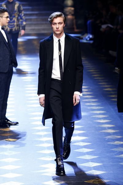 <p>Lucky Blue Smith. The original Smith family model who introduced his three sisters to the game. All four siblings play in the surf rock quartet The Atomics.</p> <p>Image: Getty.</p>