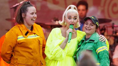 Katy Perry at bushfire relief concert.