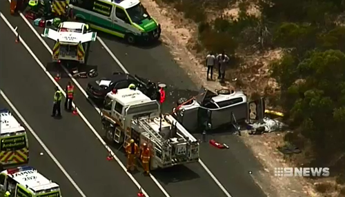 One woman was killed and three people injured in a horror crash.