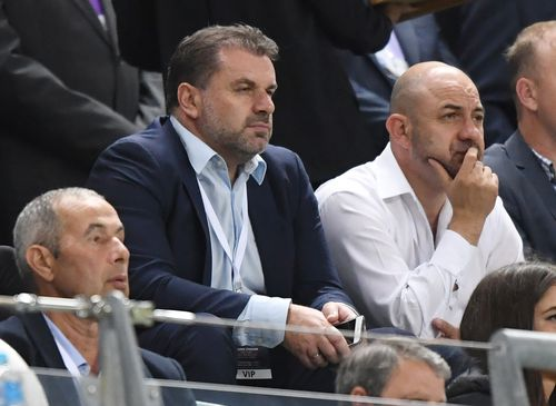 Socceroos coach Ange Postecoglou was in the crowd at Allianz Stadium last night. Picture: AAP