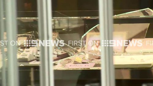 The thieves targeted the store about 11.45am. (9NEWS)