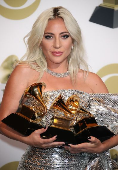 Lady Gaga, Grammys, awards, trophies