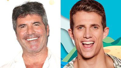 Simon Cowell (L) and Callum Macleod (R).