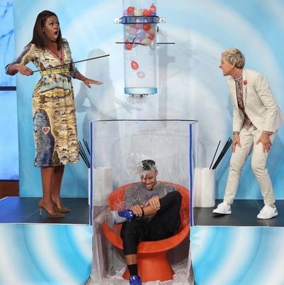 Michelle Obama, Ellen DeGeneres and basketballer Stephen Curry