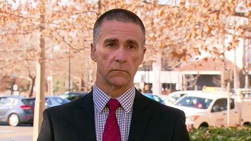 St Clare of Assisi Catholic school Principal Matthew Egan-Richards has remembered the father killed in a carpark explosion as a 'down-to-Earth good bloke' Picture: 9NEWS.