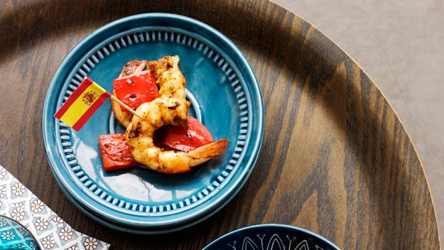 Garlic and paprika char-grilled prawns
