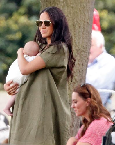 Meghan and Kate at the polo match in 2019.
