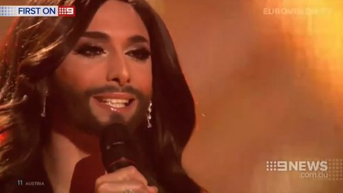 The bearded singer rose to fame after winning the 2014 Eurovision competition.