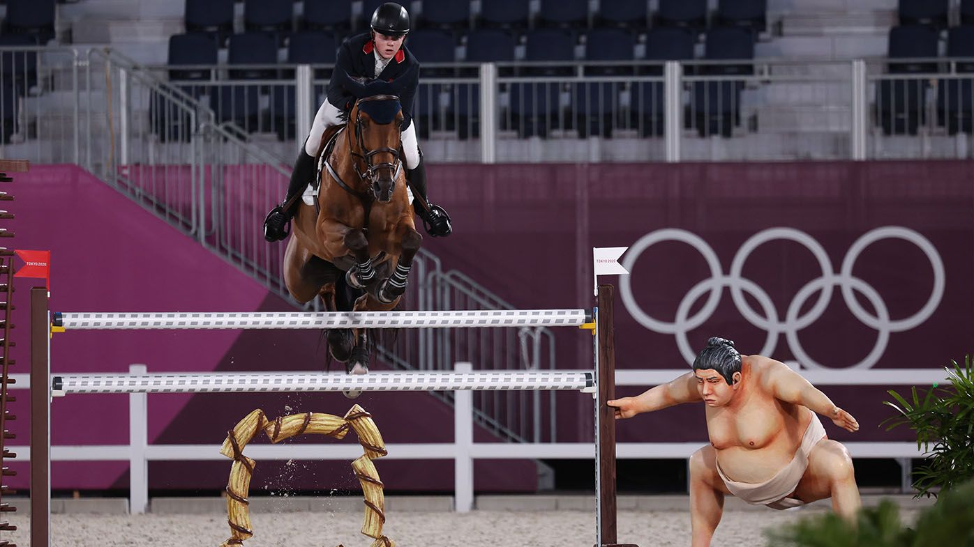 'Spooky' sumo wrestler removed from Tokyo Olympics equestrian course