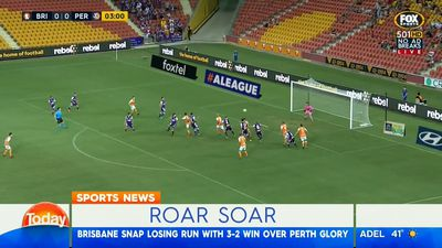 A-League: Brisbane Roar end home losing streak in win over Perth Glory