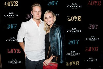 Marny Kennedy and Dan Brown at the Coach launch, Sydney.