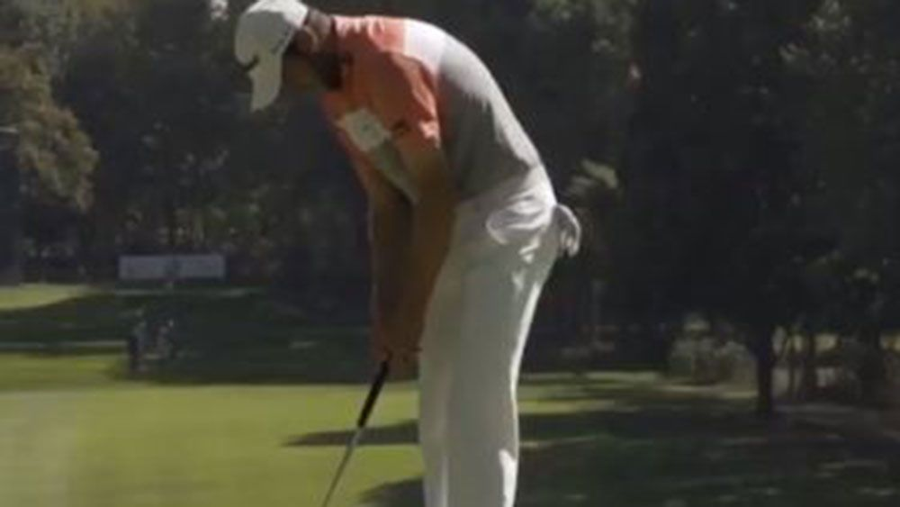 Golfer Matthew Southgate incurs penalty after freak putting incident