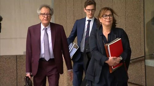 Geoffrey Rush's wife has given evidence on day three of his defamation trial.