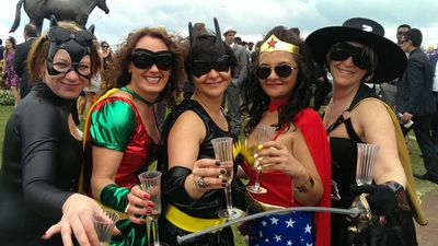 Superheroes unite for a day of partying. (ninemsn)
