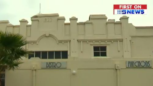 The alleged attack unfolded outside the Palais Hotel around midnight on Friday. (9NEWS)
