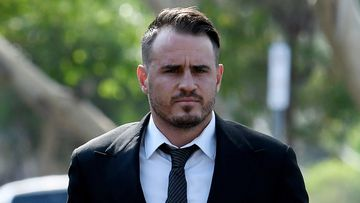 Wests Tigers star Josh Reynolds arrives at Sutherland Local Court today.