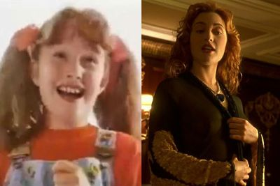 Kate scored her first gig at 11 in a kids' cereal ad before acting in various BBC TV shows. But her first big break was at 17 in 1994's <i>Heavenly Creatures</i>. Followed by mainstream success in 1997 with <i>Titanic</i> alongside Leonardo Dicaprio. <br/><br/>(Images: Kate in a commercial for Sugar Puffs breakfast cereal / <i>Titanic</i>, 1997)