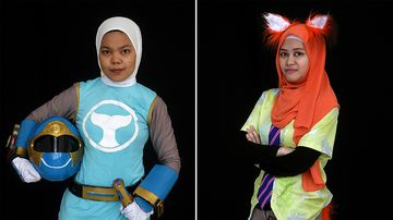 "Cosplayers attend the ""Hijab Cosplay"" event in Subang Jaya, outside of Kuala Lumpur, on April 29, 2017. (AFP)"